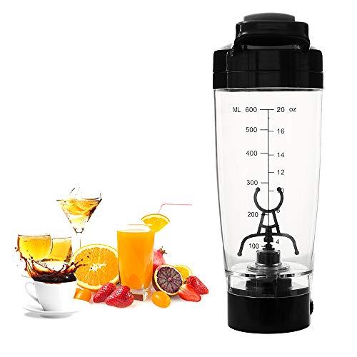Shaker Flasche, Protein Shaker Flaschen 600 ml Elektrischer Eiweiß Shaker Garantiert Auslaufsicher für Protein, Haferflocken, Babynahrung Coffee und Milch