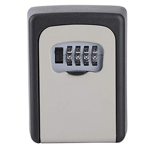 Evonecy Caja de Bloqueo de contraseña, Caja de Seguridad para Llaves, Caja Fuerte, Duradera, Simple, Resistente para Almacenamiento en la Puerta del hogar, Tarjetas de Control de Acceso,