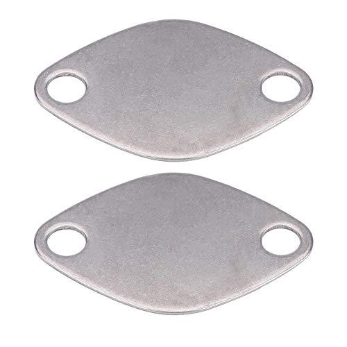 Hlyjoon 2 Pcs Placa de Bloque de Obturación de Válvula EGR, Placa de Válvula EGR con Junta para Espace Laguna Master Trafic Movano 2.2 2.5 DCI