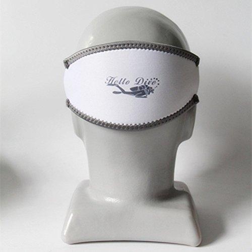 Jiaa Schnürung Tauchmasken Haarbänder Schutzhüllen Gesichtsspiegelgurte Schnorchelband Tieftauchen Doppelschicht,Weiß,Einheitsgröße