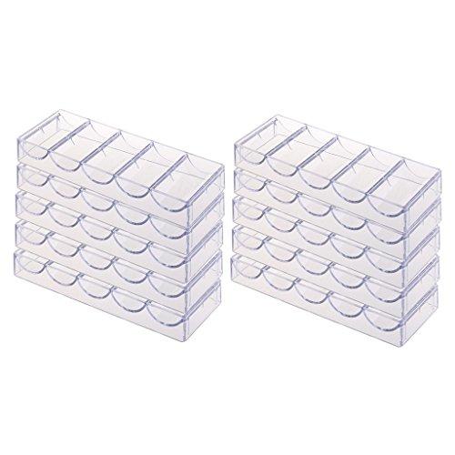 Sharplace 10pcs Profi Poker Chips Tray für 100 Chips ( ohne Deckel )