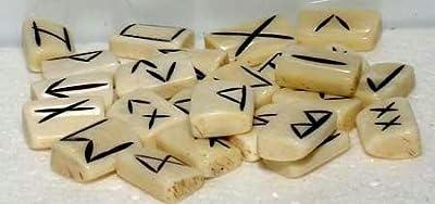 Azure Green RRBON Bone Rune Set