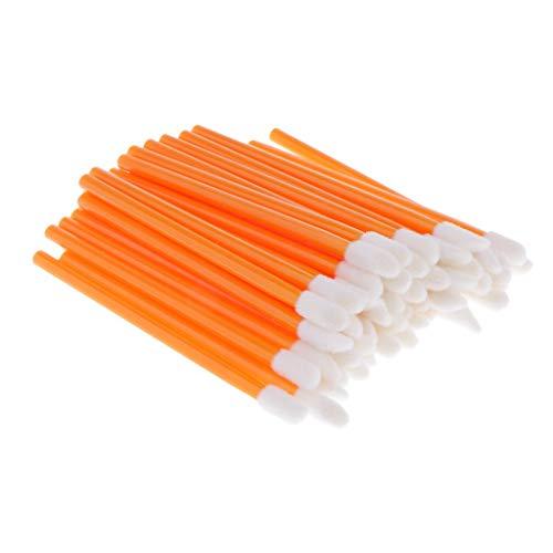 Tubayia Lot de 50 pinceaux à lèvres jetables (orange)