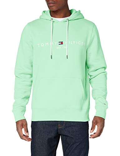 Tommy Hilfiger Herren Tommy Logo Hoody Pullover, Green, X-Large