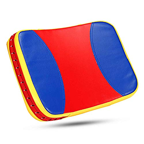 GW PU-Leder Kick Boxing Pad Taekwondo Ausrüstung Ziel-Fokus-Pad Boxsack Fitness Training Sandbag Boxen Taschen Fitness-Tool,Blue+red+Yellow