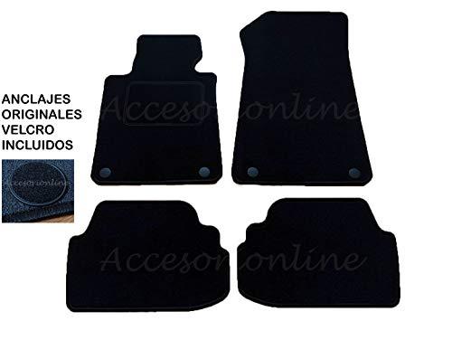 Accesorionline Alfombrillas para BMW Serie 1 Todos los Modelos 3/5puertas Cabrio Coupe - A Medida con talonera E81 E82 E87 E88 F20 F21 F40 (3Puertas/Coupe 2004-2012)