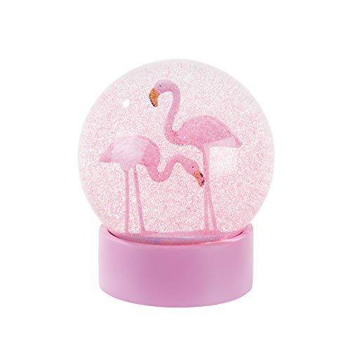 Talking Tables Schneekugel mit Flamingo, 10 cm Durchmesser