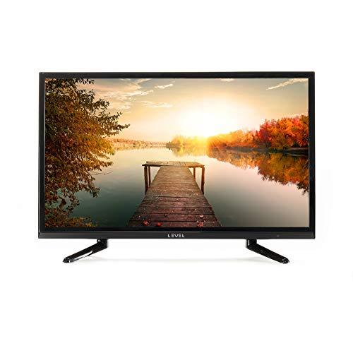 LEVEL Fernseher 24 Zoll 60 cm TV FD 8224 (Full Matrix LED Light, FullHD, Triple Tuner, CI+, HDMI, USB)[Energieklasse A] Schwarz glänzendes und klassisches Design (Modell 2020)