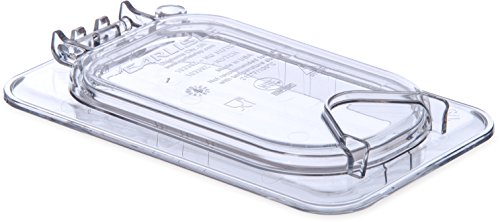 Carlisle 10338Z07 EZ Access Hinged Lid with Handle, Ninth Size, Clear
