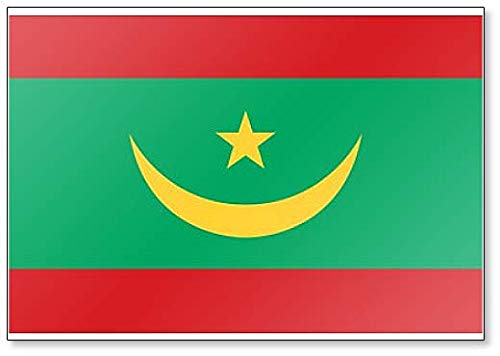 Kühlschrankmagnet Mauretanien Flagge