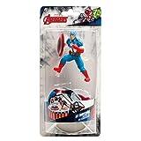 Dekora - Kit de Decoracion de Tartas con Figuras Decorativas de Capitán América