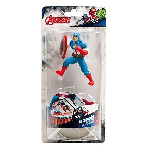 Dekora - Marvel Captain America Tortenfigur mit Tortentoppers