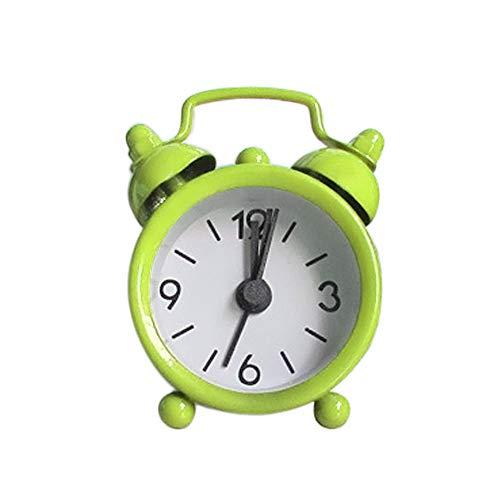 Janly Clearance Sale Reloj despertador pequeño pequeño de metal creativo para el día de Pascua (verde)
