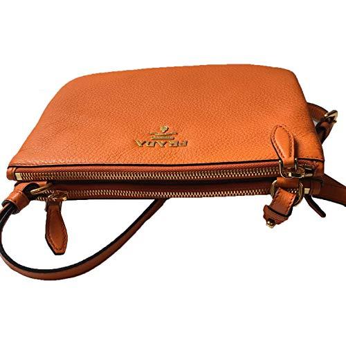 Prada Orange Papaya Vitello Leather Phenix Designer Crossbody Handbag for Women 1BH046