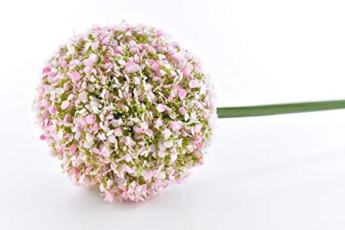 DPI Fideo - Künstliches Allium Zierlauch Rosa Weiß 77cm