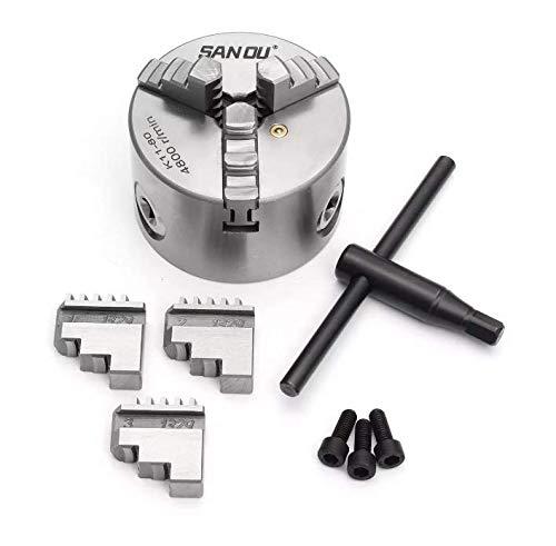 Save %29 Now! Atfipan 3 Jaw Lathe Chuck K11-80 80mm Manual Chuck Self-centering Lathe Parts