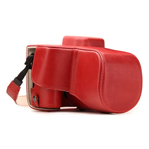 MegaGear MG1309 Estuche para cámara fotográfica - Funda (Funda, Canon, Tirante para Hombro, Rojo)