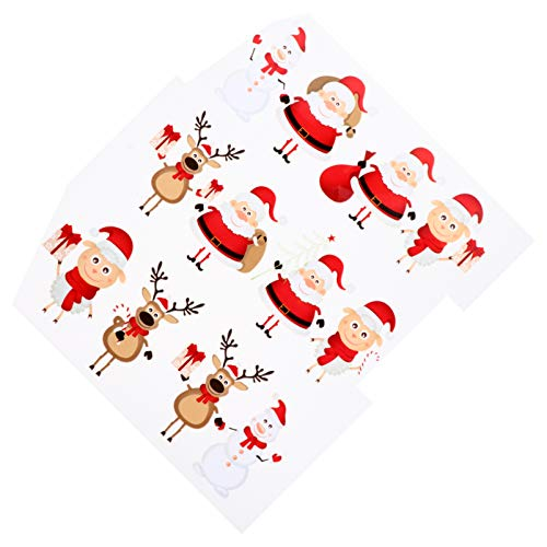 Milisten 2pcs Christmas Iron On Stickers Reindeer Santa Claus Snowman Iron On Patches Kids Heat Transfer Appliques