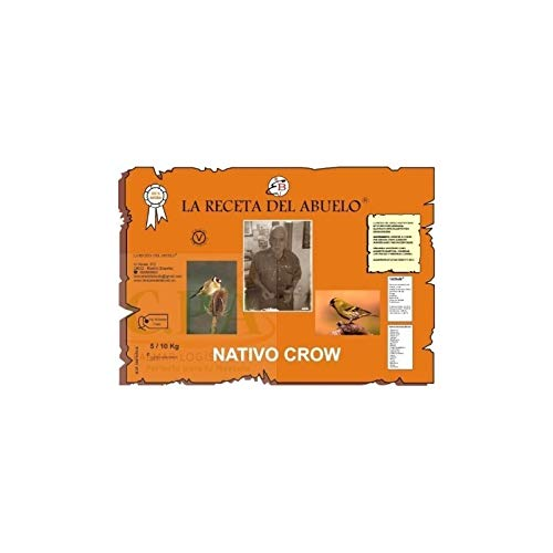 Complementos Para Aves - Pasta de cria LA Receta del Abuelo Nativo Crow para Aves Silvestres 1 kg