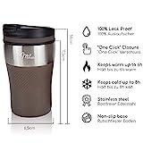 Milu Thermobecher Isolierbecher Kaffeebecher to go – 210ml 100% Auslaufsicher – Trinkbecher aus Edelstahl – Autobecher doppelwand Isolierung – Thermo Becher – Travel Mug (Braun) - 3