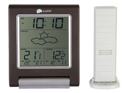 Estación meteorológica inalámbrica con lazo, tecnología DCF INT/EXT con previsiones de alarma