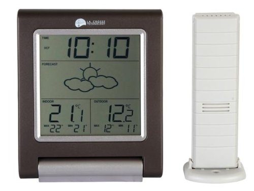 LaCrosse Wetterstation, kabellos, Technik, DCF, innen/außen, mit Alarm