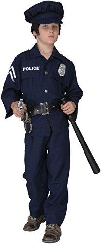 Widmann- Costume da Poliziotto, con Scritta Luminosa Bambino 11 13 Anni, Blu, 11-13 anni-158cm, 55668