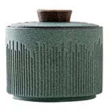 Mendingkunshop Kaffee- und Teedosen Teedose Tee-Lagertank Japanische Tee-Teedosen Retro Teelagertank Teedose Im Wohnzimmer Teestube (Color : Green, Size : 3.2 * 2.8 inch)