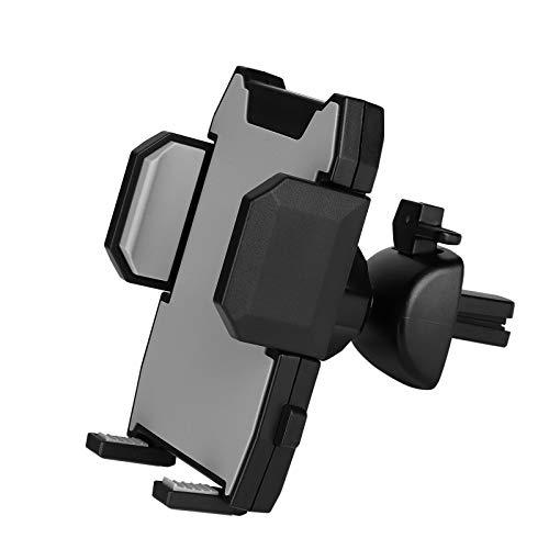 MengH-SHOP Soporte de Teléfono Móvil Coche Universal Soporte de Rejillas del Aire de Coche Ajustable 360 Grados Rotación Porta Movil Coche para iPhone, Samsung, Huawei y 4-6 Pulgadas Smartphones