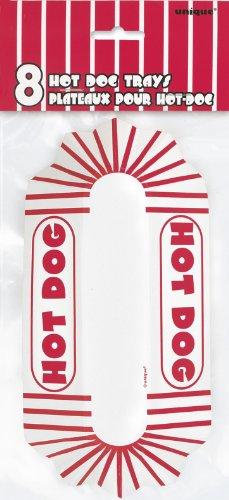 Papier-Hotdog-Schalen - 8er-Packung