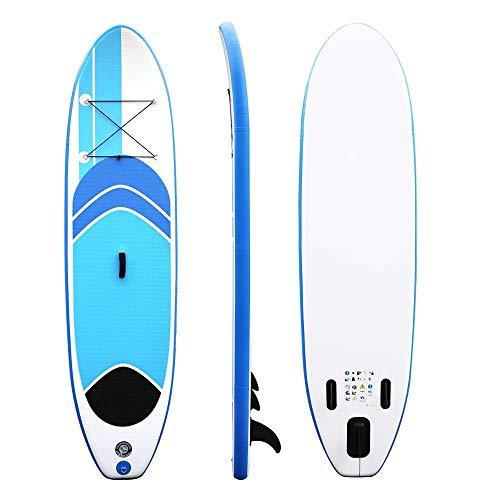 Ysswjzzzz 10ft Inflatable Stand Up Paddel Allround Board SUP Paddler Surfboard Set - for alle Schwierigkeitsgrade Kinder Erwachsene - 305 × 75 × 10CM