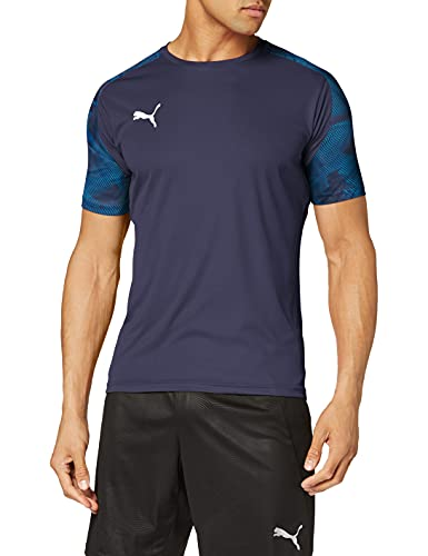 PUMA Herren Trikot Cup Training Jersey, Peacoat-Electric Blue Lemonade, M, 656023