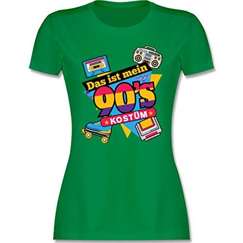 Karneval & Fasching - Das ist Mein 90er Jahre Kostüm - L - Grün - 90er Jahre Shirts - L191 - Tailliertes Tshirt für Damen und Frauen T-Shirt