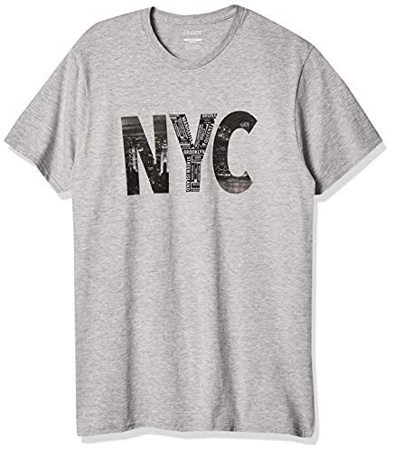 Hanes Men's Lightweight Graphic T-Shirt Collection, Neighborhood Collage, Medium