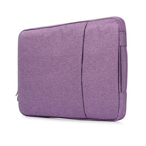 KOLIU Laptop Sleeve Case 14/15./15.6 Inch Notebook Travel Carrying Bag Waterproof Protective Cover For Macbook Air Pro 13 15 (Color : Purple, Size : MacBook 11 inch)