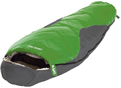 Loftra Mumienschlafsack Comfort Space grün/grau 230/85/70cm bis -23°C