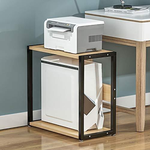 Soporte escritorio para soporte de impresora Base de la impresora 2 Capa escritorio ordenado organizador de escritorio de almacenamiento de impresora estante CPU Chasis huésped adecuado for la segurid