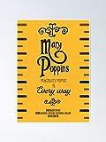 AZSTEEL Mary Poppins Minimalistisches Filmposter Julie