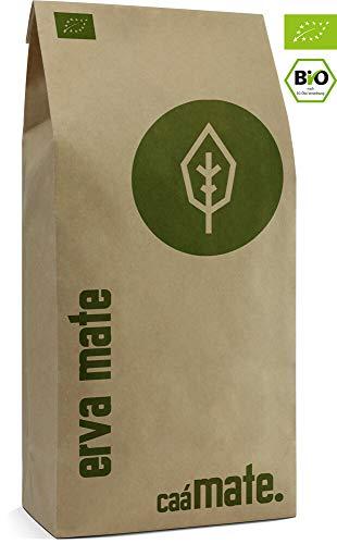 Mate Tee BIO 500g ● frisch & grün ● Original Yerba Mate ● luftgetrocknet ● rauchfrei ● plastikfrei ● fair ● Bio Matetee aus Mateblättern, Mateaststückchen und Mateblattpulver ● DE-ÖKO-006