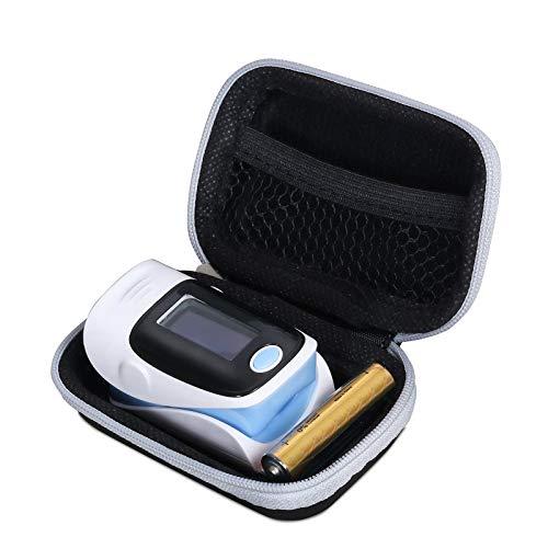 Pulsoximeter-Gehäuse, Hartschalenkoffer für Pulsoximeter-Blutsauerstoffsättigungsmonitor (Schwarz)