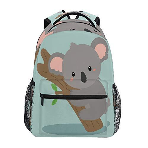 LUCKYEAH Lovely Koala Tree Backpack School Book Bag for Teen Boy Girl Kids Daypack Rucksack for Travel Camping Gym Hiking