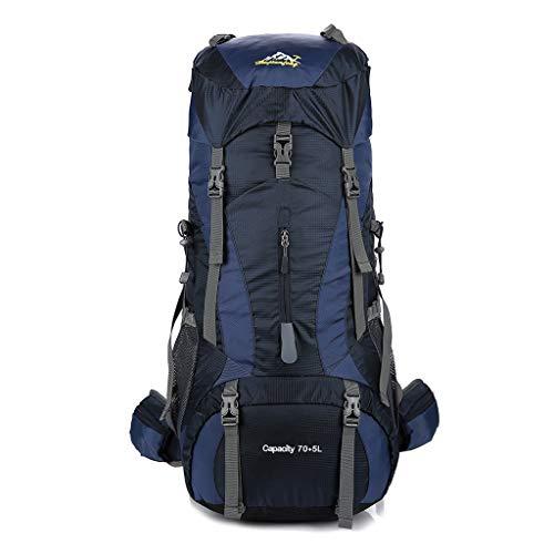 Mochila grande para camping, senderismo, senderismo, viaje, para mujeres, hombres, 70 l, con, azul oscuro (Azul) - guangruiorrtysjb3TT903999-DB
