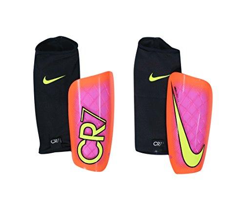 Nike CR7 Mercurial LITE - Schienbeinschutz Unisex, Rosa (pink Blast/total Crimson/Volt), XL