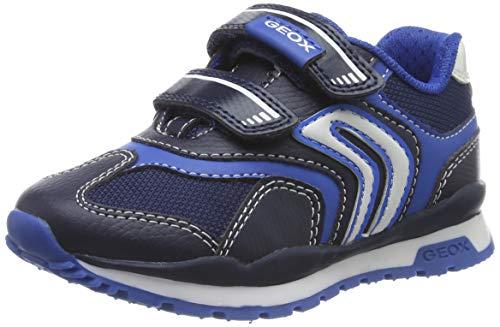 Geox J Pavel A, Scarpe da Ginnastica Basse Bambino, Blu (NavyLt Blue C0693), 27 EU