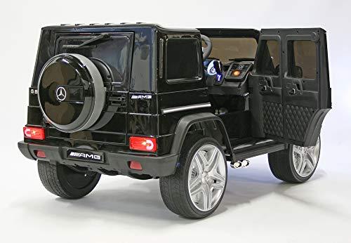 RC Auto kaufen Kinderauto Bild 3: moleo Mercedes G65 AMG Kinder Auto Elektroauto Kinderauto Kinderfahrzeug Elektrofahrzeug mit LED-Beleuchtung, verschiedenen Sound- und Lichteffekten 2.4 GHz, Antrieb: 2X 45W Motor, (Black)*