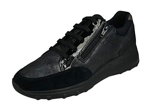 Geox Womens Adult ALLENIEE 1 Black Sneakers 9