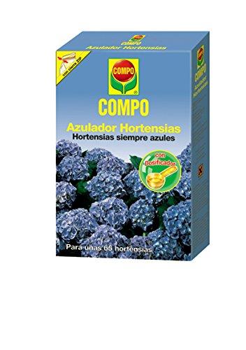 Compo 800g Fertilizante azulador de hortensias, Activa el Color Azul, Soluble en Agua, Negro, 800 g