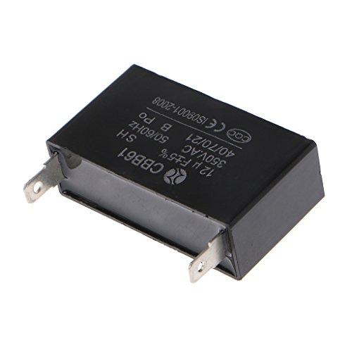 BELTI Negro 12uF Generador Condensador Generador CBB61 12uF 50 / 60Hz 350VAC Motor de Ventilador