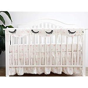 Sahaler Crib Rail Cover, Crib Protector from Chewing, Crib Rail Teething Guard, Crib Wrap for Nursery Baby Crib – Long Rail Cover x 1 -Lover