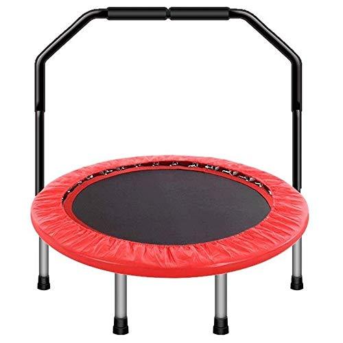 WCJ Fitness Trampolines Trampolin Armsteun Vouwen Trampoline Voor Kinderen Indoor Bouncing Bed Met Trommel Leer, Voor Binnen En buiten, Veilige bounce